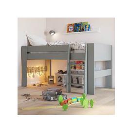 image-Memphis Wooden Mid Sleeper Childern Bed In Grey