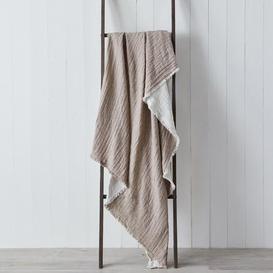 image-Milan Reversable 130cm x 180cm Throw Taupe (Brown)