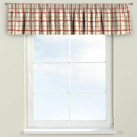 image-Avinon Curtain Pelmet Dekoria Size: 390cm W x 40cm L, Colour: Cream/Red