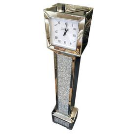 image-Aquilae Crushed Diamante Jewel 143cm Grandfather Clock Rosdorf Park