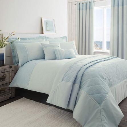 image-Millie Blue Duvet Cover and Pillowcase Set Blue