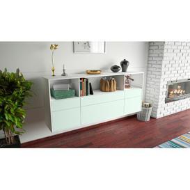 image-Surbit Sideboard Brayden Studio Colour (Body/Front): White Mat/Light blue