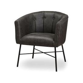 image-Hill Interiors Urban Grey Faux Leather Tub Chair