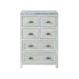 image-Grey Acacia Wood Kitchen Base Cabinet W60 Zinc