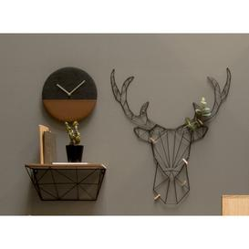 image-Leather and Jeans Wall Clock