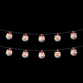 image-10 LED White Indoor Snowman String Lights Battery 1.35m
