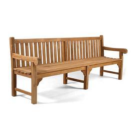 image-Jayla Teak Bench Sol 72 Outdoor Size: 93cm H x 240cm W x 70cm D
