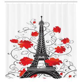 image-Eiffel Tower Shower Curtain East Urban Home Size: 240cm H x 175cm B