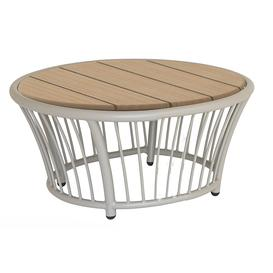 image-Alexander Rose Cordial Garden Beige Round Side Table With Roble Top
