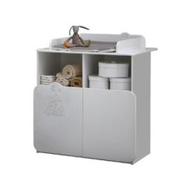 image-Prague Childrens Chest of Drawers In White With Changing Unit
