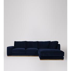 image-Swoon Denver Right Corner Sofa in Ink Easy Velvet With Light Feet