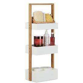 image-Balaton Wood 3 Tier Free Standing Shower Caddy Brambly Cottage
