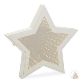 image-Kyran Infinity Mirror Star Night Light Ebern Designs Colour: White