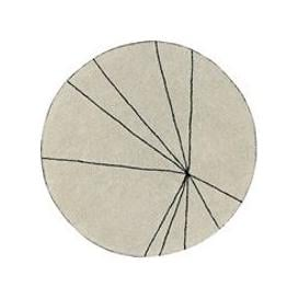image-Lorena Canals Washable Trace Round Rug - Beige