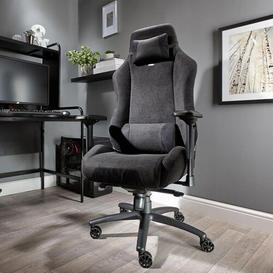image-Messina Deluxe Gaming Chair X Rocker Colour (Upholstery): Black