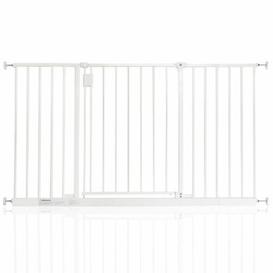 image-Bella Vista Pressure Mounted Pet Gate Archie & Oscar Colour: White, Size: 128cm-134cm