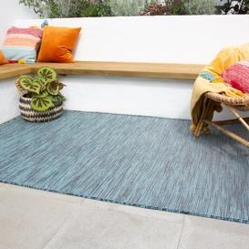 image-Teal Mottled Indoor  Outdoor Rug - Patio