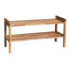 image-Rone Wood 6 Pair Stackable Shoe Rack Mercury Row Finish: Oiled Oak