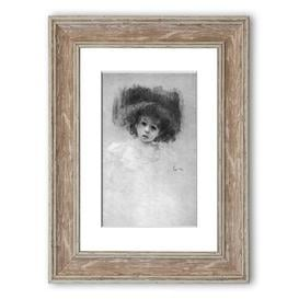 image-'Breast Image of a Child Cornwall' Framed Photograpic Print East Urban Home Size: 126 cm H x 93 cm W, Frame Options: Walnut
