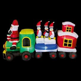 image-9 LED White Outdoor Inflatable Train Christmas Decoration Mains 5M