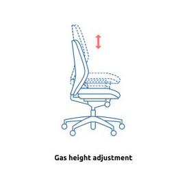 image-Baron 24HR Ergonomic Operator Chair With Arms (Fabric), Black