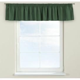 image-Panama Curtain Pelmet Dekoria Size: 260cm W x 40cm L, Colour: Dark green