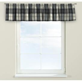 image-Edinburgh Curtain Pelmet Dekoria Size: 130cm W x 40cm L, Colour: Black/White