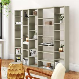 image-Seabird Tall Wide 224cm Cube Unit Bookcase Ebern Designs Colour: Matt Grey