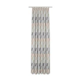 image-Lopez Pencil Pleat Blackout Single Curtain Mercury Row Curtain colour: Pink/Violet/Beige, Size: 145cm H x 132cm W