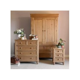 image-Hamilton Pine Bedroom Set with Double Wardrobe