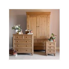 image-Hamilton Pine Bedroom Set with Double Wardrobe