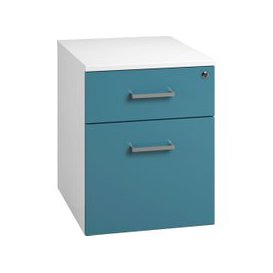 image-Next-Day Solero Low Mobile 2 Drawer Pedestal (Light Blue), Free  Delivery