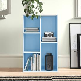 image-Salmeron Cube Unit Bookcase Zipcode Design Colour: White/Light Blue