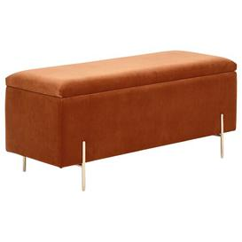 image-Alamo Upholstered Storage Bench Fairmont Park Upholstery Colour: Russet