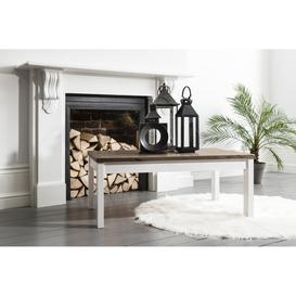 image-Coffee Table Canterbury Large in White and Dark Pine