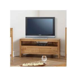 image-Trimble Corner TV Unit In Oak With 2 Drawers