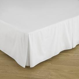 image-Victorian 200 Thread Count Cotton Platform Valance Great Knot Colour: White, Size: Double (4'6)