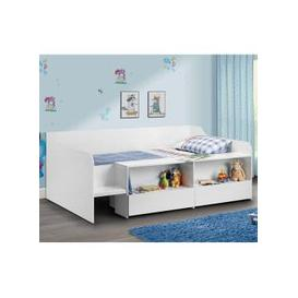 image-Carolyn Low Sleeper Children Bed In White With 2 Drawers