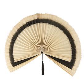 image-Two Tone Woven Bamboo Fan Wall Art 151x124