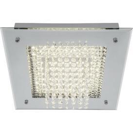 image-Glitter 1-Light LED Flush Mount Willa Arlo Interiors