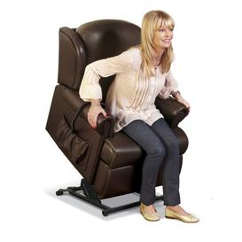 image-Sherborne Malvern Petite Leather 2 Motor Rise And Recliner Chair