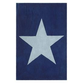 image-little home at John Lewis Star Children's Rug, Blue, L170 x W110cm