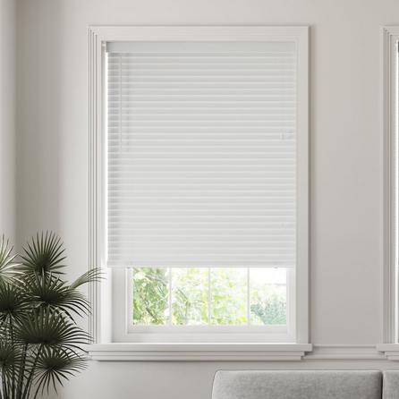image-50mm Slats Room Darkening White Venetian Blind White