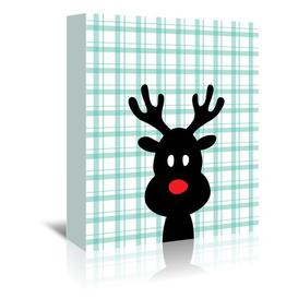 image-'Reindeer Christmas' by Ashlee Rae Graphic Art Wrapped on Canvas Americanflat Size: 40 cm H x 30 cm W