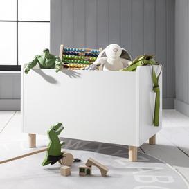 image-Erik Toy Storage Box in White and Natural Pine