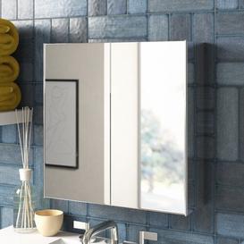 image-Bathroom Double 45cm x 45cm Recessed Mirror Cabinet Zipcode Design