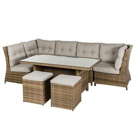 image-Fitchner 7 Seater Rattan Corner Sofa Set Sol 72 Outdoor Colour (Frame): Natural, Colour (Fabric): Brown