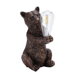 image-Habitat Warm White LED Bear with Bulb Solar Light