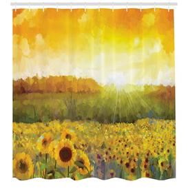 image-Meadow with Sun Polyester Shower Curtain East Urban Home Size: 180cm H x 175cm W
