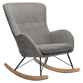 image-Worth Rocking Chair Mikado Living Colour: Grey, Fabric: Linen